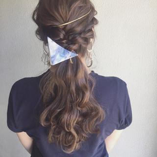 夏 ゆるふわ 簡単ヘアアレンジ ロング ヘアスタイルや髪型の写真・画像