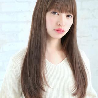 前髪あり ナチュラル 色気 ロング ヘアスタイルや髪型の写真・画像 ヘアスタイルや髪型の写真・画像