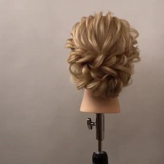 ナチュラル ロング ヘアアレンジ 結婚式 ヘアスタイルや髪型の写真・画像