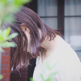 ロブ 外国人風 ストリート レイヤーカット ヘアスタイルや髪型の写真・画像