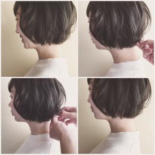 ボブ まとまるボブ スタイリング モテボブ ヘアスタイルや髪型の写真・画像
