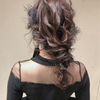 結婚式 セミロング デート パーティー ヘアスタイルや髪型の写真・画像