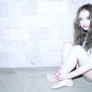 コンサバ セミロング 渋谷系 ナチュラル ヘアスタイルや髪型の写真・画像