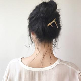 セミロング ヘアアレンジ 簡単ヘアアレンジ 結婚式 ヘアスタイルや髪型の写真・画像