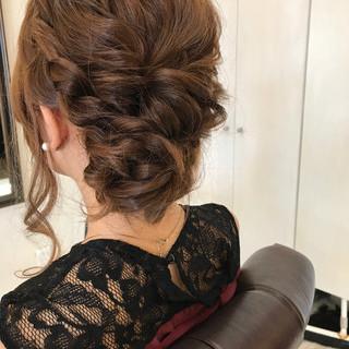 女子会 ヘアアレンジ ナチュラル ミディアム ヘアスタイルや髪型の写真・画像