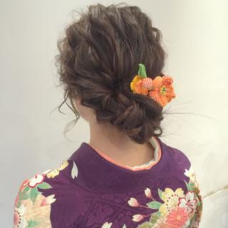 波ウェーブ ナチュラル ゆるふわ ロング ヘアスタイルや髪型の写真・画像