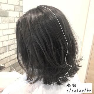 ナチュラル ボブ 縮毛矯正 グレージュ ヘアスタイルや髪型の写真・画像