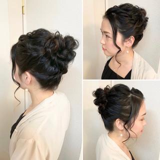 アップスタイル ガーリー ヘアアレンジ 結婚式 ヘアスタイルや髪型の写真・画像