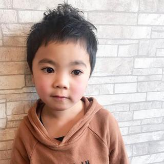子供 メンズ ショート ボーイッシュ ヘアスタイルや髪型の写真・画像