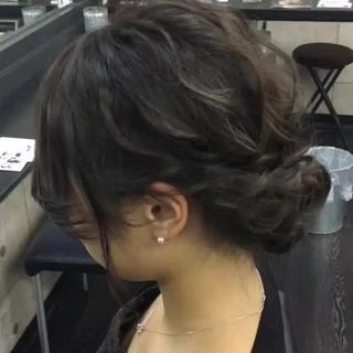 エレガント 結婚式 セミロング パーティ ヘアスタイルや髪型の写真・画像