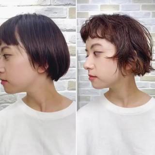 マッシュショート ボーイッシュ ナチュラル ショート ヘアスタイルや髪型の写真・画像