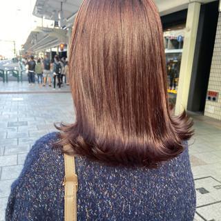 ナチュラル ベリーピンク ラベンダーピンク ピンク ヘアスタイルや髪型の写真・画像