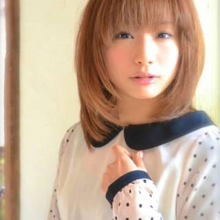 モテ髪 ミディアム 卵型 コンサバ ヘアスタイルや髪型の写真・画像