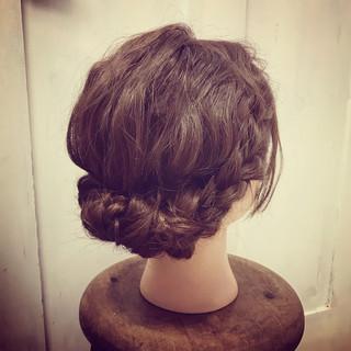 結婚式 成人式 ミディアム ヘアアレンジ ヘアスタイルや髪型の写真・画像 ヘアスタイルや髪型の写真・画像