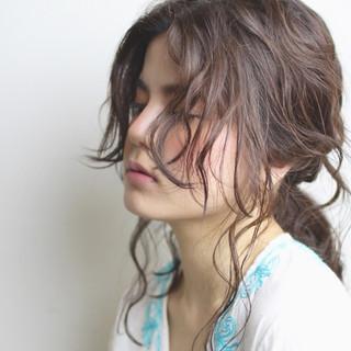 ヘアアレンジ ショート ハーフアップ セミロング ヘアスタイルや髪型の写真・画像