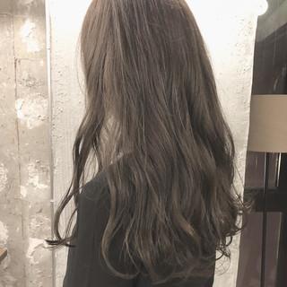 アッシュ グレージュ 外国人風カラー オルチャン ヘアスタイルや髪型の写真・画像