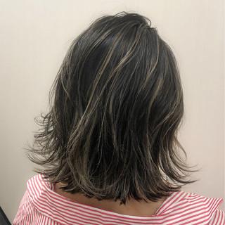 女子力 グレージュ ボブ デート ヘアスタイルや髪型の写真・画像