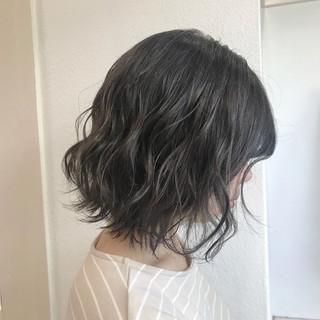 ボブ フェミニン ヘアアレンジ 透明感 ヘアスタイルや髪型の写真・画像