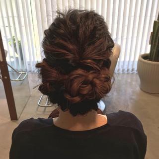 ヘアアレンジ フェミニン ロング 結婚式 ヘアスタイルや髪型の写真・画像