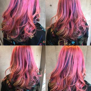 ハイライト パーマ グラデーションカラー 冬 ヘアスタイルや髪型の写真・画像
