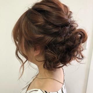 ナチュラル ヘアアレンジ ボブ デート ヘアスタイルや髪型の写真・画像