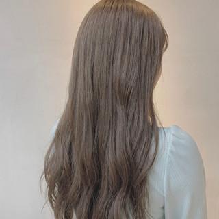 透明感カラー ミルクベージュ ロング ナチュラル ヘアスタイルや髪型の写真・画像