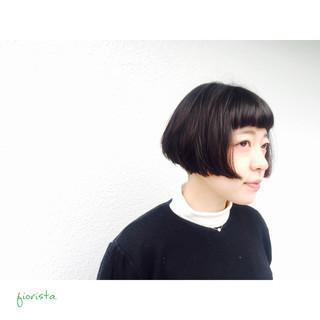 暗髪 ナチュラル 黒髪 モード ヘアスタイルや髪型の写真・画像