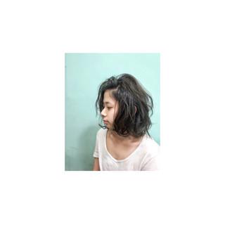 ミディアム 外国人風 色気 ボブ ヘアスタイルや髪型の写真・画像