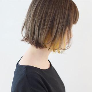 ストレート ボブ グレージュ ナチュラル ヘアスタイルや髪型の写真・画像 ヘアスタイルや髪型の写真・画像