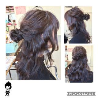 ロング 簡単ヘアアレンジ ショート ハーフアップ ヘアスタイルや髪型の写真・画像