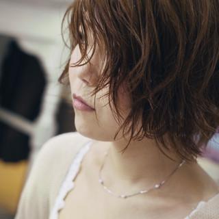 ボブ くせ毛 ナチュラル ナチュラル可愛い ヘアスタイルや髪型の写真・画像
