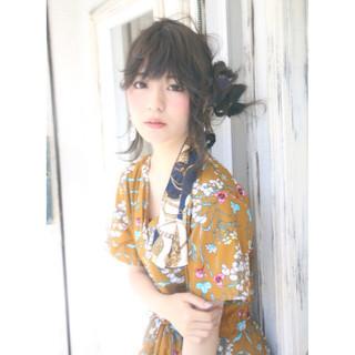 大人かわいい ヘアアレンジ フェミニン ヘアアクセ ヘアスタイルや髪型の写真・画像