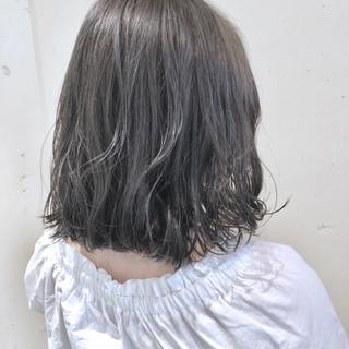 ゆるふわ ボブ ガーリー ウェーブ ヘアスタイルや髪型の写真・画像