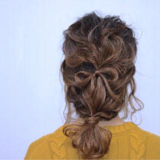 ミディアム 簡単ヘアアレンジ ショート ストリート ヘアスタイルや髪型の写真・画像