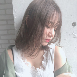 大人かわいい ヘアアレンジ ミディアム ナチュラル ヘアスタイルや髪型の写真・画像