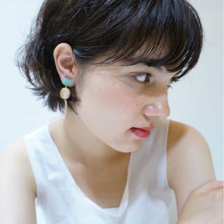フェミニン ウェーブ 小顔 ラフ ヘアスタイルや髪型の写真・画像