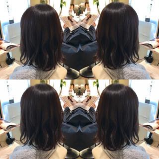黒髪 モード ミディアム アッシュ ヘアスタイルや髪型の写真・画像