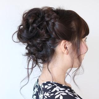 デート 結婚式 簡単ヘアアレンジ ナチュラル ヘアスタイルや髪型の写真・画像