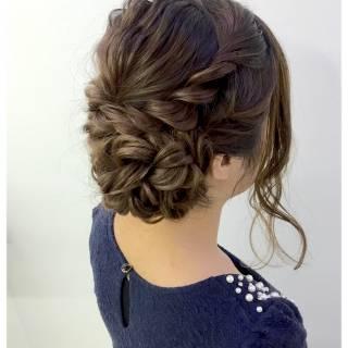 ねじり ヘアアレンジ アップスタイル ラフ ヘアスタイルや髪型の写真・画像 ヘアスタイルや髪型の写真・画像