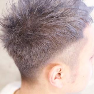 メンズ ショート ダブルカラー ハイトーン ヘアスタイルや髪型の写真・画像