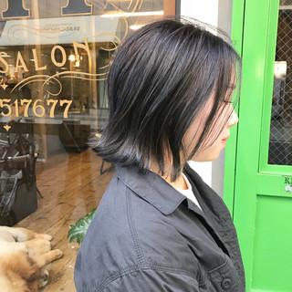 ストリート ナチュラル ハイライト ボブ ヘアスタイルや髪型の写真・画像