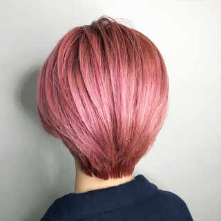 ガーリー オシャレ ショート 外国人風カラー ヘアスタイルや髪型の写真・画像