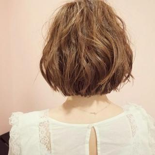 色気 ボブ ナチュラル リラックス ヘアスタイルや髪型の写真・画像