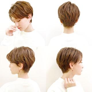オフィス ナチュラル スポーツ ショート ヘアスタイルや髪型の写真・画像 ヘアスタイルや髪型の写真・画像