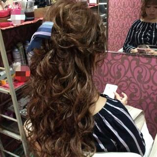 上品 エレガント 結婚式 編み込み ヘアスタイルや髪型の写真・画像 ヘアスタイルや髪型の写真・画像