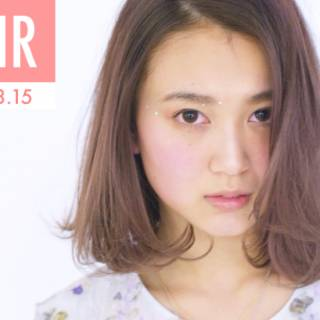 レッド ストリート ピンク ナチュラル ヘアスタイルや髪型の写真・画像