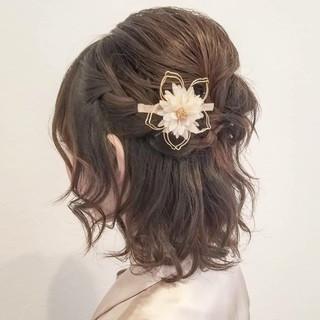 ヘアアレンジ デート ナチュラル ボブ ヘアスタイルや髪型の写真・画像 ヘアスタイルや髪型の写真・画像