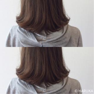 ストレート ミディアム ハイライト 外国人風 ヘアスタイルや髪型の写真・画像