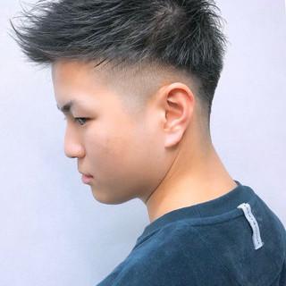 ショート ツーブロック フェードカット モテ髪 ヘアスタイルや髪型の写真・画像