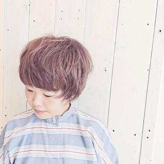 ブリーチ ラベンダーアッシュ ショート ピンクアッシュ ヘアスタイルや髪型の写真・画像